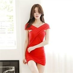 clubber - Shirred Bodycon Dress