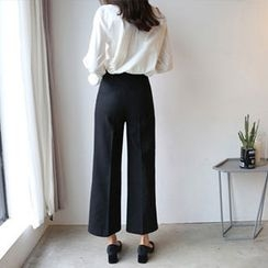 Hello sweety - Wool Blend Zip-Side Pants