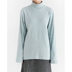 Someday, if - Mock-Neck Loose-Fit Top