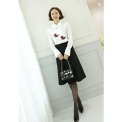 Lemite - A-Line Midi Skirt