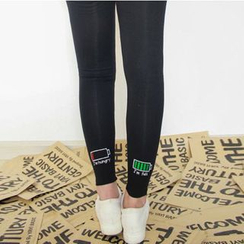 Grainie - Battery Embroidered Leggings