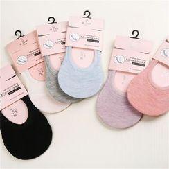 Meigo - Plain No Show Socks