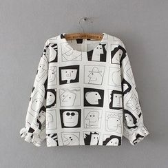 Ainvyi - Print Batwing Sweatshirt