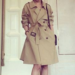 Fashion Street - Double-Breasted Trench Coat