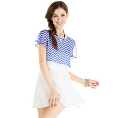 59 Seconds - Striped Top Inset Dress