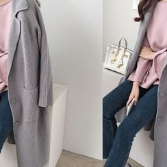 DAILY LOOK - Pocket-Detail Wool Blend Knit Coat