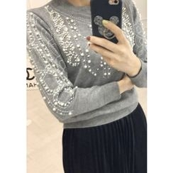 Lemite - Beaded Knit Sweater