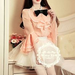 Karussell - Set : Bell Sleeve Blouse + Tulle Skirt