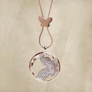 Love Generation - Rhinestone Butterfly Necklace