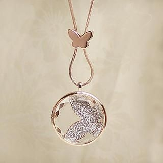 Love Generation - Rhinestone Butterfly Necklace