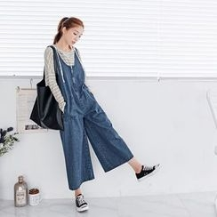 OrangeBear - Denim Culotte Jumpsuit