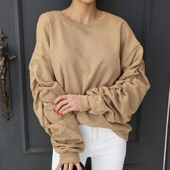 DANI LOVE - Shirred Sweatshirt