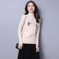 Romantica - Embroidery Wool Blend Sweater