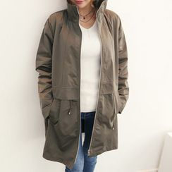 DANI LOVE - Stand-Collar Detachable Fleece-Lined Parka