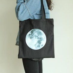 TangTangBags - Moon Print Canvas Shopper Bag