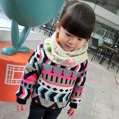 Rakkaus - Kids Fleece-Lined Patterned Pullover