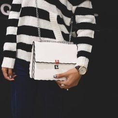 Secret Garden - Contrast Trim Shoulder Bag