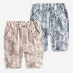 Happy Go Lucky - Kids Plaid Shorts