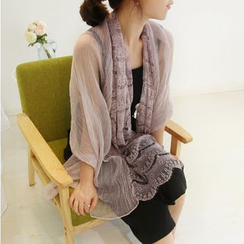 Cozykiss - 飾蕾絲圍巾