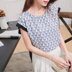 Tokyo Fashion - Printed Short-Sleeve Top