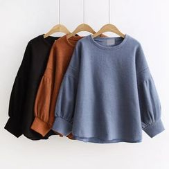 Nycto - Plain Bell Sleeve Pullover
