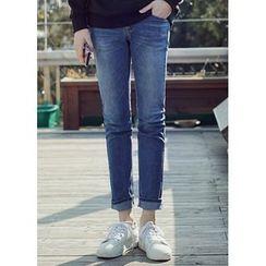 JOGUNSHOP - Washed Slim-Fit Jeans