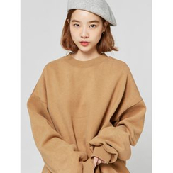 FROMBEGINNING - Fleece-Lined Oversized Sweatshirt