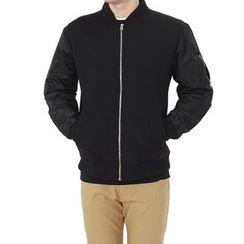 Seoul Homme - Neoprene Zip-Up Jacket