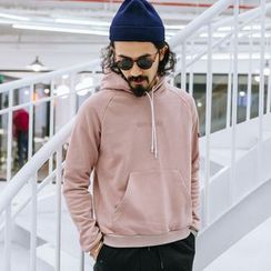 YIDESIMPLE - Embossed Hooded Pullover