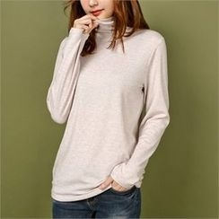 Styleberry - Turtle-Neck Plain Top
