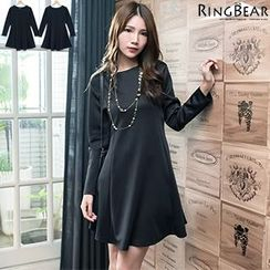 RingBear - Long Sleeve Plain Dress