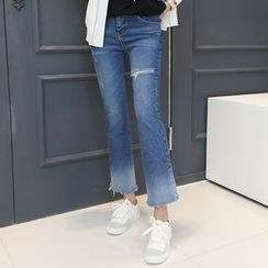 DANI LOVE - Distressed Boot-Cut Jeans