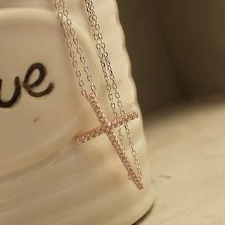 Love Generation - Rhinestone Cross Bracelet