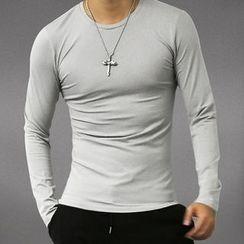 Mannmix - Crewneck Long-Sleeve T-Shirt