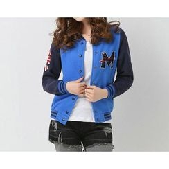 Dollisee - Color Block Baseball Jacket