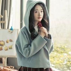 Ashlee - Hooded Woolen Coat