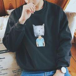 Streetstar - Cat Print Sweatshirt