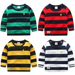 Seashells Kids - Kids Striped Long Sleeve T-Shirt
