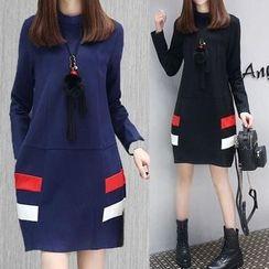 EFO - Color Block Long-Sleeve Dress