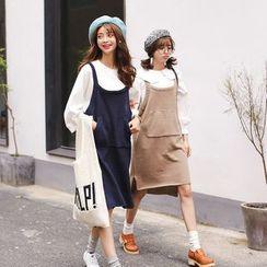 Mushroom Street - Knit Pinafore Dress