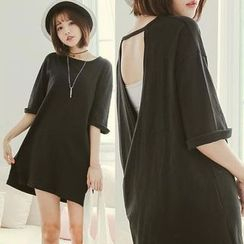 CatWorld - Open-Back T-Shirt Dress