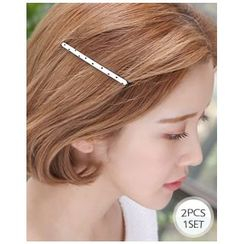 Miss21 Korea - Set of 2: Polka-Dot Hair Pin