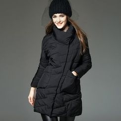 Y:Q - Plain Long Padded Jacket