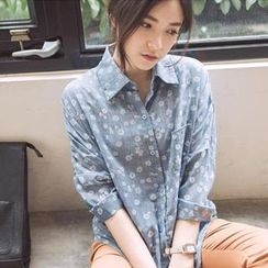 Tokyo Fashion - Long-Sleeve Floral Shirt