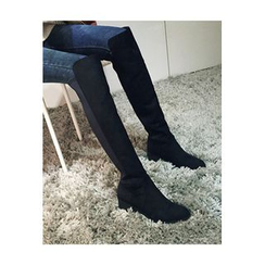 ATTYSTORY - Faux-Leather Knee-High Boots