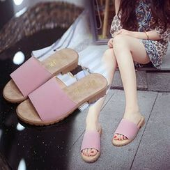 Simply Walk - Faux Leather Slide Sandals