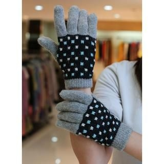 siggi - Dot Knit Gloves