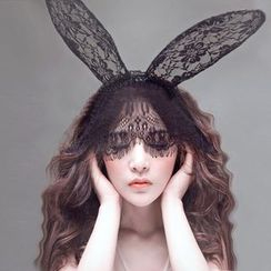 Cleopatra - Lace Rabbit Ear Mask