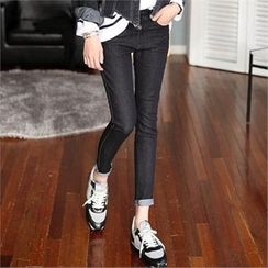 CHICFOX - Flat-Front Skinny Pants