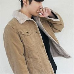 MITOSHOP - Fleece-Lined Corduroy Jacket